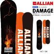 送料無料 スノー ボード 板 ALLIAN アライアン 140cm DAMAGE ダメージ ミッド キャンバー 2015-2016冬新作 レディース スノボ 婦人