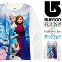 長袖 Tシャツ バートン BURTON Youth Tech Tee キッズ 子供 ジュニア 女の子 ロンT インナー スノボ スノーボード スキー SNOWBOARD WEAR アナと雪の女王 アナ雪 ディズニー Disney 25%OFF
