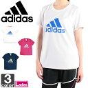 アディダス【adidas】レディース TEAM ビッグロゴ 半袖 Tシャツ BIJ93 1604 トップス ウェア シャツ 部屋着 学校 合宿 部活 ロゴ スポーツ トレーニング ウィメンズ 女性