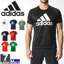 アディダス【adidas】2018年春夏 メンズ D2M トレーニング ビッグロゴ 半袖 Tシャツ BVA79