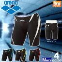 アリーナ【arena】 メンズ ハーフ スパッツ FAR-2508MC 1709 ひざ丈 膝丈 膝上