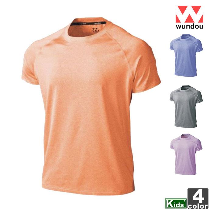 トップスウンドウwundouジュニアキッズP-810JフィットネスストレッチTシャツ2005シャツ吸