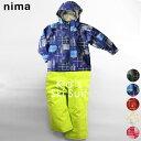 スキーウェア ニーマ nima ジュニア キッズ JR-8053 スキースーツ 上下セット 2009 キッズスキー ジャケット パンツ セットアップ ウィンタースポーツ スキー服