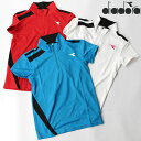テニスウェア ディアドラ DIADORA レディース DOS7339A ゲームシャツ 2010 トップス ウェア ポロ 運動 スポーツ フィットネス ジム UV 吸汗 速乾 半袖シャツ ゆうパケット対応