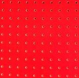 【アウトレットDIY】カラー有孔ボード 赤 (4mm 8φ-30P) 【パンチングボード】