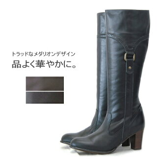 サイドベルトロング leather boots OT807 / made in Japan / real leather boots / /
