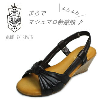 30101 calidad (カリダッド) end ribbon leather sandals / comfort sandals fs3gm