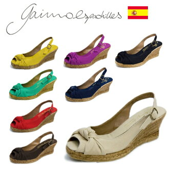 GAIMO ESPADRILLES ( Gaim espadrille ) キャンバスレザーウエッジソール Sandals ■ GAIMO IRIS ■ Spain Calzanor ( カルザノール) and lined with long-established brand fs2gm