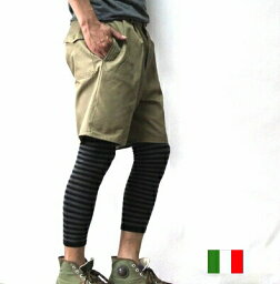 <strong>イタリア軍</strong> ショート パンツ ツイル 【メール便】 新品 軍 ミリタリー デッドストック / ハーフパンツ ショーツ