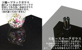 """ワンルームにも最適!95x50幅!""""完全オリジナル""""スモークガラス&ブラックガラスガラステーブルガラスセンターテーブル[NIGHT-ナイト-N.modernBLACKLIMITED-95ver.]◆黒"""