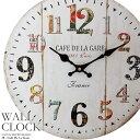 壁掛け時計 カフェ 1863 幅34cm レトロ調アンティー...