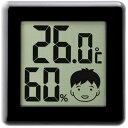 【通販限定/新品/取寄品/代引不可】ドリテック デジタル温湿度計 ピッコラ ブラック O-282BK 1コ入