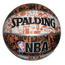 【新品/取寄品】バスケットボール グラフィティ オレンジ 7号球 73-722Z
