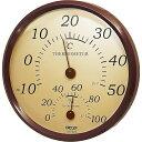 【新品/取寄品】【通販限定】クレセル 園芸用 温度計・湿度計 壁掛け用 TR-150BR ブラウン