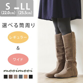 2-type cylinder width  Suede Pecos boots [round toe 1.5cm heel]/gift/boots/long boots/have choices/autumn-winter 2014 item /small size/large size/outlet shoes