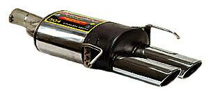 スーパースプリント ベンツ W209 クーペ CLK350 '05-'09用 リアマフラー 片側楕円ダブル 120×80mm (844227)【eマーク適合品】【02P18Jun16】