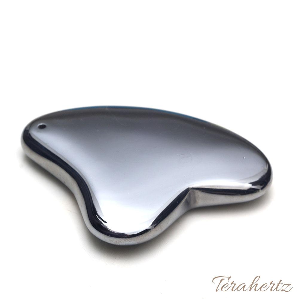 【テラヘルツ鉱石 かっさ ハート型 約50mm×40mm×7mm】【メール便可】テラヘルツ ブレスレット ネックレス パワーストーン 天然石
