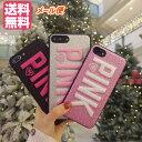 ピンク ロゴ iphoneXケース キュートケースiPhon...