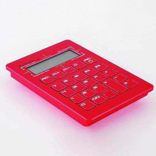 [注意:銀行振込のみ]粋[sui] PRESIDENT Series電子計算機(電卓)[表面の追加仕様:カラーアルマイト(赤)][桐箱:なし(本体のみ)][受注生産品(納期5〜7週間)][表面のヘアーライン加工なしです]