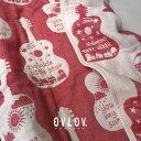 ガーゼケット ハーフ おしゃれ 100 × 140 ギター レッド 赤 6重 綿 日本製 出産祝い ギフト キッズ 女の子 男の子 柔らかい 生地 ovlov 母の日 父の日 ひざ掛け プレゼント