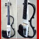 サイレントバイオリン4点セット パールホワイト色 エレキバイオリン・ケース・弓・松脂