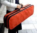バイオリンケース4/4サイズ ヨーロッパで人気高級スエードケース 赤茶色(テラコッタ)
