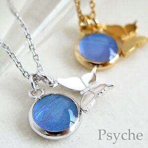 ★ try half as long as 1 point as person ★ real butterfly wings * double charm Butterfly Necklace