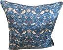 クッションカバーモリスデザインオックスフォードタイム Piped Cushion Cover Strawberry Thief Blue CCP3パイピング ストロベリーシーフ いちご泥棒 鳥 100%コットン