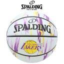 【SPALDING】 スポルディング レイカーズ マーブル バスケットボール(NBA公認) 5号球(小学校用)83-927J