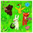 フランス DJECOジェコ パズル・ゲーム知育輸入おもちゃ ゲオルグ・ハレンスレーベンのファーストパズル インザガーデン  (木製パズル)