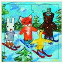 フランス DJECOジェコ パズル・ゲーム知育輸入おもちゃ ゲオルグ・ハレンスレーベンのファーストパズル インザマウンテン (木製パズル)