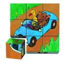 フランス DJECOジェコ パズル・ゲーム知育輸入おもちゃ 幼児用キューブ9キューブストロール