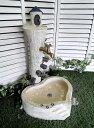 立水栓 水栓柱 立水栓セット送料無料【幸せの扉への塔立水栓&シンクセット】庭 水