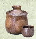 【美濃焼】酒器1合徳利 備前吹酒燗器(盃付)