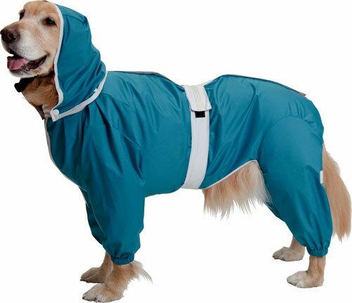 大型犬用レインコート 超はっ水安全コート 【ターコイズブルー】大型犬 レインコート 大型犬 レインコート 超定番!お散歩後のお手入れがグーンと楽になるよ!(レトリバーにぴったり)