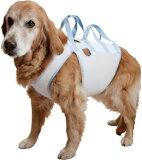 【大型犬用介護用品】【夏仕様】ハニカムアシスタントバンド持ち手2ヶ所タイプ
