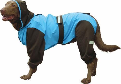 大型犬用レインコート 超はっ水・安全コート 【スカイ×チョコレート】大型犬 レインコート 大型犬 レインコート 超定番!お散歩後のお手入れがグーンと楽になるよ!(レトリバーにぴったり)