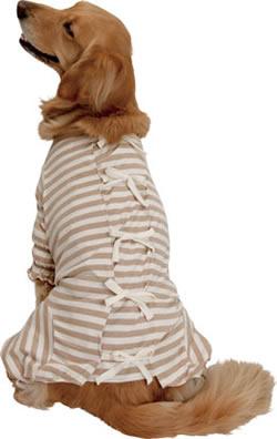 オーガニックコットン 天竺ボーダー部屋着<大型犬用>【あす楽対応】 100%日本製オーガニックコットンのくつろぎウェア(レトリバーにぴったり)