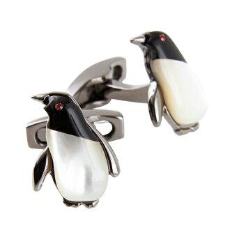 西蒙 · 卡特西蒙迎合英國達爾文企鵝袖扣袖扣飾品配件男士首飾瑪瑙施華洛世奇白色殼企鵝黑白色 OZIE x 禮品其他品牌禮物你