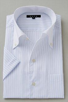 偉大的短袖襯衫短袖 Y 襯衫短袖襯衫 CoolMax 義大利衣領襯衫分隔的衣領襯衫襯衫緊身襯衫顏色藍藍尺寸男裝襯衫苗條