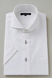 短袖襯衫短袖 Y 襯衫短袖襯衫 CoolMax 臥式混色襯衫緊身剖白色大尺寸男裝繽紛 OZIE 斜紋格子其他襯衫