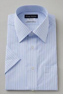 短袖襯衫短袖 Y 襯衫短袖襯衫形成穩定寬彩色襯衫禮服襯衫定期適合藍色藍色條紋大尺寸男士襯衫