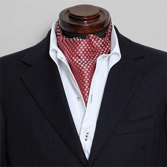 阿斯科特領帶絲綢 100%碎花酒紅色紅酒婚禮駿景領帶結錄影和 OZIE
