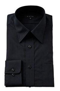レギュラー ワイシャツ ブラック フィット オフィス カッターシャツ ビジネス おしゃれ ブロード