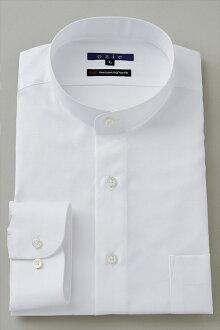 硬領領襯衫 ! 在日本日本白襯衫白色 120 計數溢價棉殼按鈕襯衫商務襯衫長袖 t 恤站領襯衫男裝男裝穿襯衫 Y t 恤專賣店辦公室 OZIE 斜紋長袖襯衫