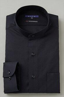 硬領領襯衫 ! 點綴在長袖襯衫在日本日本黑色襯衫黑色 120 張溢價棉襯衫商務襯衫長袖 t 恤站衣領襯衫男裝男裝穿襯衫 Y t 恤專賣店辦公室 OZIE