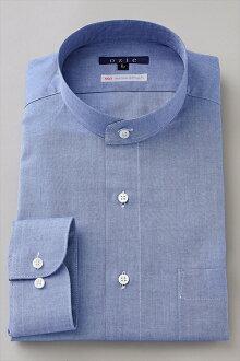 硬領領襯衫 ! 長袖襯衫作出日本日本溢價棉長袖襯衫立領男裝男式襯衫的禮服襯衫 Y 襯衫專業店辦公禮品 OZIE 的 100 張牛津襯衫藍藍素色襯衫商務襯衫