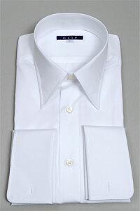 カフスボタン フォーマル ダブルカフスシャツ ワイシャツ ホワイト 冠婚葬祭