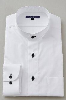 硬領領襯衫 ! 長袖襯衫在日本日本白襯衫白色襯衫商務襯衫長袖 t 恤站領襯衫男裝男裝禮服襯衫 Y t 恤專賣店辦公室 OZIE
