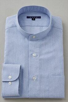 硬領領襯衫 ! 在日本國內的藍色襯衫,藍色襯衫商務襯衫長袖襯衫長袖 t 恤站領襯衫男裝男式禮服襯衫 Y t 恤專賣店辦公室 OZIE
